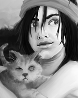 WIP: Elspeth and Maruman by Shonk-ness