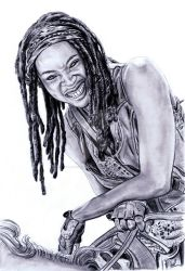 Michonne by imtherealjenna