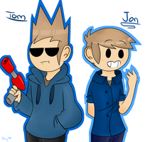 Tom and Jon (EddsWorld Fan Art) by SkyToast0411