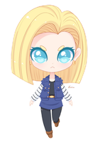 Android 18 by Exceru-Karina