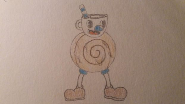 Mugman the Cinnamon roll  by Hpixel