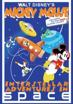 Mickey Mouse Intersteller Adventures by Sequana
