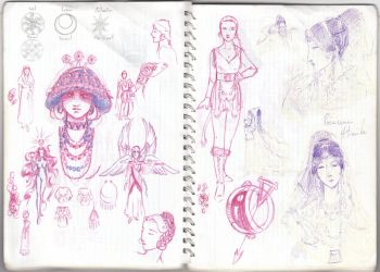 Notebook sketches by duVallonFecit