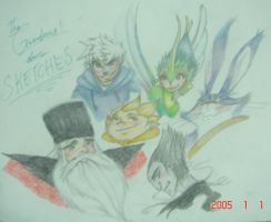 ROTG_The GUARDIANS_Skethces by chocolatevampire217