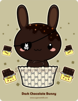 Dark Chocolate Truffle Bunny by mAi2x-chan