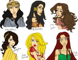Coloring of Greek Goddesses by sonia555220