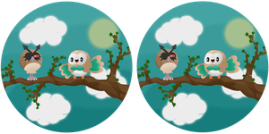 Spot the difference: Rowlet and Hoothoot
