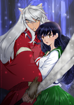 Inuyasha and Kagome - PS coloring by GiorgiaPizzu
