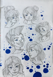 Headshots Sketchpage by Tiny-Doodles