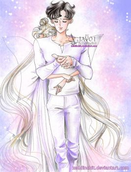 serenity and endymion  - You never are alone by zelldinchit