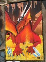 Lair of the red dragon-chalk art by CrystalCircle