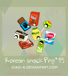 Korean snack / PNG by Ciao-A