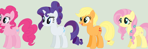 Mlp Next Gen: Older Mane Six by mrscookie11