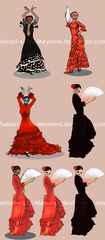 Flamenco dancers by Takiari-xXXx-Meyrimo