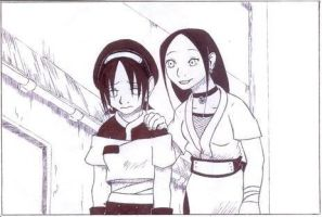KS: Toph and Katara by Maoden-DOis