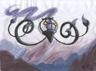 A Chandelure painting by Chandelure-Lover