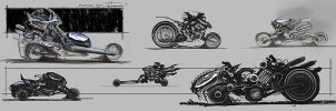 Motorcycle Concept thumbnails by zakforeman