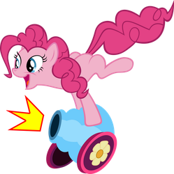 Pinkie Pie PARTY CANNON Vector by hombre0
