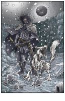 Jon Snow and Ghost by CjB-Productions