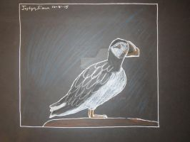Black paper Puffin by Justyn16