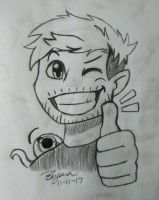 Jack Approves - Pencil Sketch by BryanaMarshall