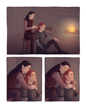 Sibling bonds: Maedhros and Maglor by rowanbaines