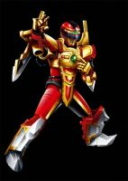 POWER RANGERS OP OVERDRIVE - RED SENTINEL RANGER by DXPRO