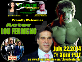 Hollywood Connection Show Flyer - Lou Ferrigno 2 by simplemanAT