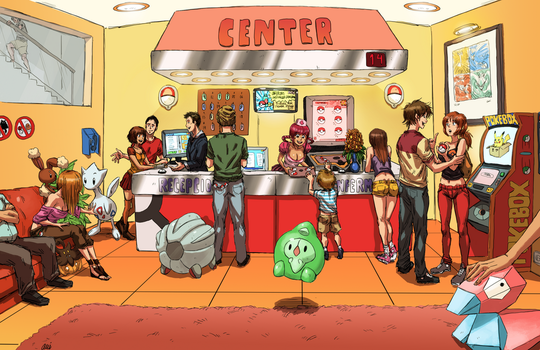 Pokemon Center by oNichaN-xD