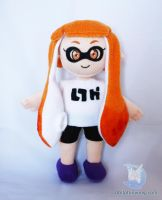 Inkling Girl Plushie (pattern available) by dollphinwing