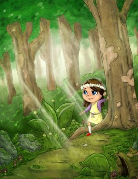 Elisa in the forest by austindlight