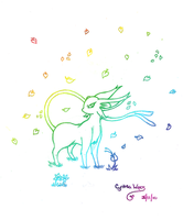 Colorful Espeon by StrawberrieMew
