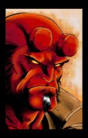 Hellboy face by Kitsune-2077