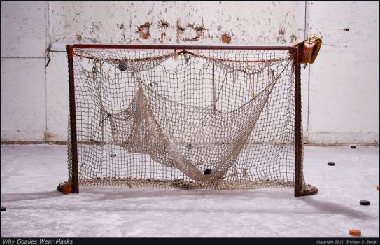 Why Goalies Wear Masks by bulloney