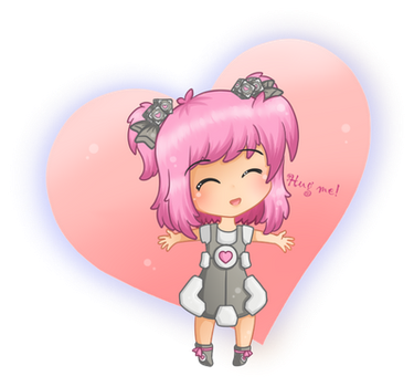 Weighted companion cube-chan by Irelys