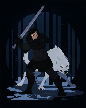 jon snow by scrii