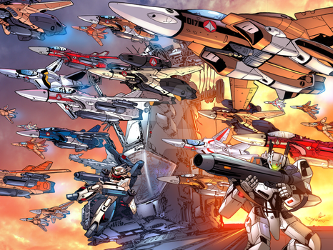 Robotech Ride of the Valkyries by sullivanillustration