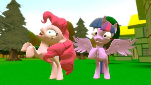 Pinkie Pie and Twilight Sparkle crazy by EDplus