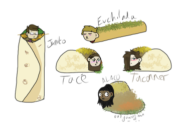 The Spanish food squad DEH by Abiluvsdogs