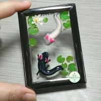Axolotl Picture Frame Pond by PepperTreeArt
