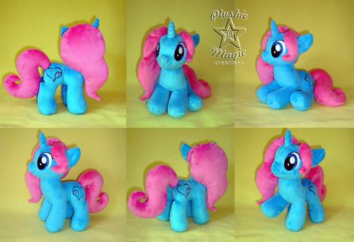 COMMISSION: Painted Melody OC 10 inches plushie by SunflowerTiger
