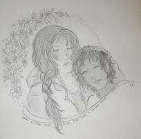 Katniss and Rue by Kcie-Aiko