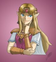 Smug Zelda by StarWolf597