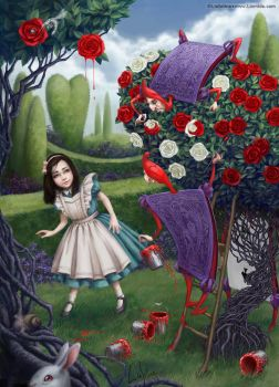 Alice and Gardeners by LiaSelina