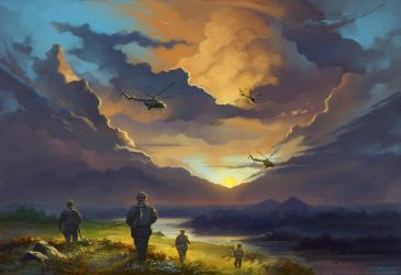 81st Airborne: Skies for the recon team by Noldofinve
