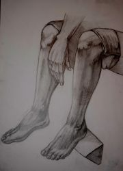 Life drawing. Leg study by zzSnowWhiteQueenzz