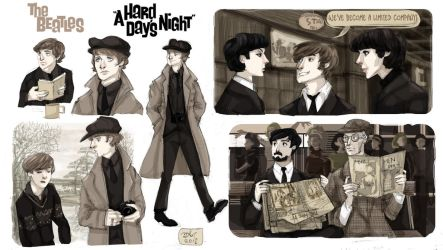 Screen-Cap Study: A Hard Day's Night by Orchideacae