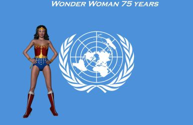 Wonder Woman 75 years commemoration by ash5800940