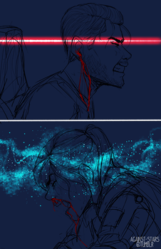 +the sky comes falling by against-stars