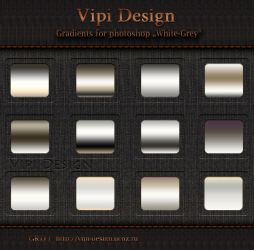 Gradients for photoshop - White-Grey by elixa-geg